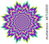 abstract  rainbow flower.... | Shutterstock .eps vector #687110035