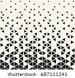 abstract seamless geometric... | Shutterstock .eps vector #687111241