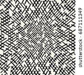 geometric lines maze seamless... | Shutterstock .eps vector #687111349