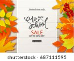 back to school sale background... | Shutterstock .eps vector #687111595