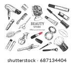 beauty store background  poster ... | Shutterstock .eps vector #687134404