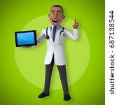fun doctor   3d illustration | Shutterstock . vector #687138544