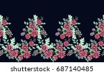 seamless folk border in small...   Shutterstock .eps vector #687140485