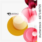 circle vector background ... | Shutterstock .eps vector #687148705