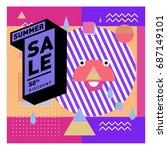 summer sale memphis style web...   Shutterstock .eps vector #687149101