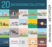 background collection | Shutterstock .eps vector #687149329