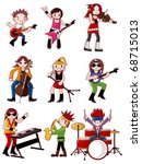 cartoon rock band icon | Shutterstock .eps vector #68715013