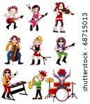 cartoon rock band icon   Shutterstock .eps vector #68715013