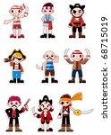 cartoon pirate icon | Shutterstock .eps vector #68715019