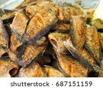 close up fish fried in the... | Shutterstock . vector #687151159