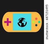earth simple vector icon....