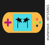 palms simple vector icon....