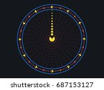 clock. creative watches from... | Shutterstock .eps vector #687153127