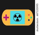 radiation simple vector icon....