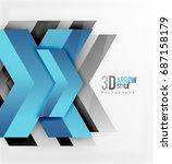 techno arrow background ... | Shutterstock . vector #687158179
