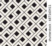vector seamless pattern. modern ... | Shutterstock .eps vector #687160411