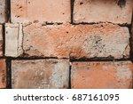 folded bricks close up | Shutterstock . vector #687161095
