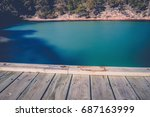 beautiful of coles bay and the... | Shutterstock . vector #687163999