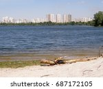 the gulf of the dnieper. kiev.... | Shutterstock . vector #687172105