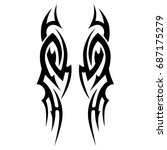 tattoo tribal vector designs.... | Shutterstock .eps vector #687175279