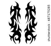tattoo tribal vector design.... | Shutterstock .eps vector #687175285
