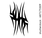 tribal tattoo art designs.... | Shutterstock .eps vector #687175309