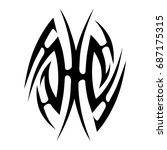 tribal tattoo art designs.... | Shutterstock .eps vector #687175315