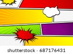 vector mock up of a typical... | Shutterstock .eps vector #687176431