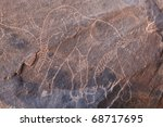 Ancient Rock Engraving In...