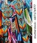 Closeup Of Native American...