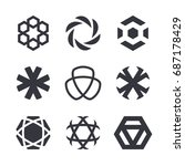vector abstract symbols and... | Shutterstock .eps vector #687178429