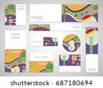 set of web banner templates for ... | Shutterstock .eps vector #687180694