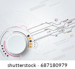 vector digital technology... | Shutterstock .eps vector #687180979