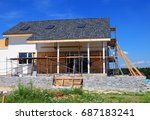 roofing construction. house... | Shutterstock . vector #687183241