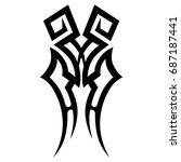 tattoo tribal vector design.... | Shutterstock .eps vector #687187441