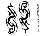 tribal tattoo art designs.... | Shutterstock .eps vector #687187489