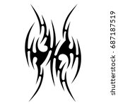 tribal tattoo art designs.... | Shutterstock .eps vector #687187519