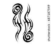 tattoo tribal vector designs.   Shutterstock .eps vector #687187549