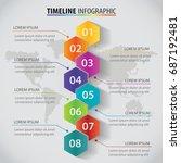 vector polygon infographic... | Shutterstock .eps vector #687192481