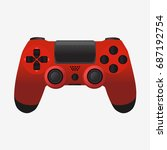 video game controller icon. red ...   Shutterstock .eps vector #687192754