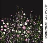 night flower blooming in garden ...   Shutterstock .eps vector #687192949