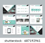 layout design template for... | Shutterstock .eps vector #687192961