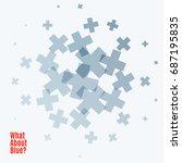 abstract vector design elements ...   Shutterstock .eps vector #687195835
