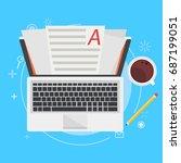 banner copywriting. computer... | Shutterstock .eps vector #687199051