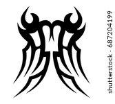 tribal tattoo art designs.... | Shutterstock .eps vector #687204199