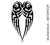 tattoo tribal vector design.... | Shutterstock .eps vector #687204229