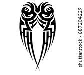 tattoo tribal vector design.... | Shutterstock .eps vector #687204229