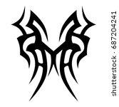 tribal tattoo art designs.... | Shutterstock .eps vector #687204241