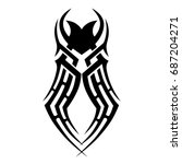 tattoo tribal vector design.... | Shutterstock .eps vector #687204271