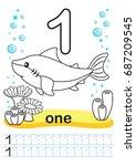 coloring printable worksheet... | Shutterstock . vector #687209545